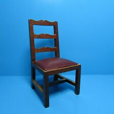 Dollhouse Miniature Kitchen / Dining Room Chair with Leather Seat ~ T6883