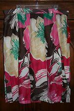Anne Klein~NWT~silk/cotton floral SKIRT~Retail $89~Size 16W 1X XXL