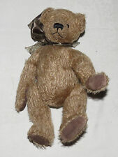 """Judith Tofp 10"""" Wee Paws Teddy Bear with Large Brown Bow"""