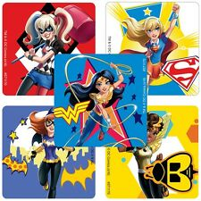 DC Superhero Girls Stickers x 5 - Birthday Party - Supergirl Batgirl (Style 2)