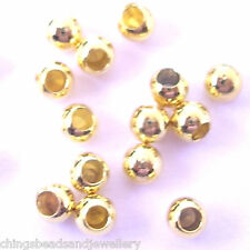 50 Silver Gold plated End Cap Beads 3mm For Memory Wire
