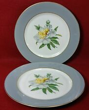 PRINCESS china GOLDEN PEONY pattern Set of 2 Salad Plates - 8-1/8""