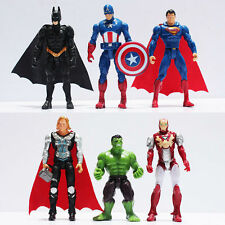 THE AVENGERS/SET 6 PCS 10 CM CAPITAN AMERICA BATMAN HULK THOR IRON MAN SUPERMAN