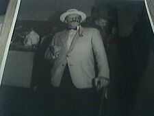 b/w photograph man with moustache with cane