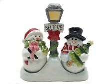 Pair of Snowman Salt and Pepper Set/Toothpick Holder