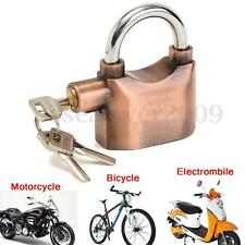 Anti-theft Padlock Sound Alarm Lock Security for Bike Bicycle Motorcycle Garage