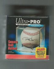 Ultra Pro Square Baseball Holder Cube Display Case with Cradle & Free Engraving