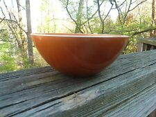 "Mid Century Modern Original EMALOX NORWAY Atomic Orange 6"" Enamel Aluminum BOWL"