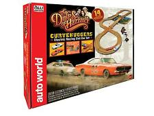 Auto World Dukes Of Hazard - General Lee / Police Car HO Slot Car Set SRS259