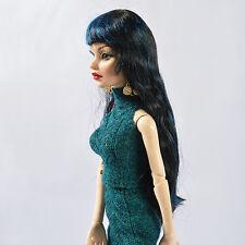 """Sherry 6-7"""" Dark  Wig for Evangeline Ghastly/Ellowyne Wilde Doll no shoes11VW14"""