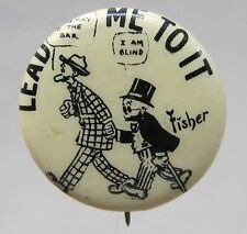 1910 Bud Fisher MUTT & JEFF Lead Me To It Hassan Cigarettes pinback button