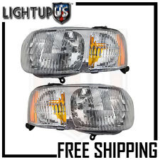 Headlights Headlamps Pair Left right set for 01-04 Ford Escape