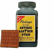 Acrylic Antique Leather Stain Medium Brown 4 oz 2607-14 by Fiebing's
