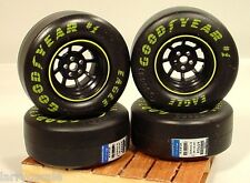 Good Year Eagle Racing Slicks (4Pc) Miniatures w Rims 1/24 Scale Diorama Items