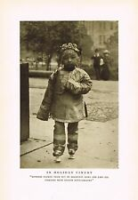 1910's Old Vintage Asian Chinese Girl Child Costume Genthe Photo Gravure Print c