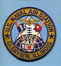 NAS NAVAL AIR STATION GLENVIEW ILL US NAVY Base Squadron Jacket Patch