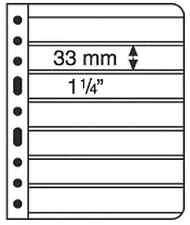 Lighthouse Vario Stamp Storage Pages-7S-7 pocket-Black Back-2 sided-5 to pkg