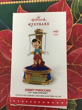 HALLMARK 2015 PINOCCHIO DISNEY 75TH ANNIVERSARY ORNAMENT   NEW MAGIC