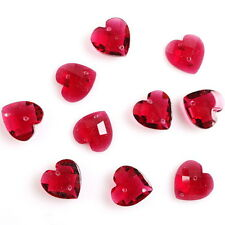 150x Dark Red Heart Resin Sew-on Charms Button Embellishment Fit Crafts DIY L