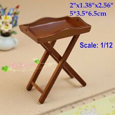 1:12 Dollhouse Miniatures Wood Tea Serving Tray/Stand Doll House Room Items