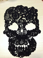 Big Skull Lace Appliques Embroidery Patches Punk Trim venice lace applique 3PCS