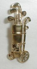 Gold Golf Pin Jewelry Vintage Brooche Golf Bag