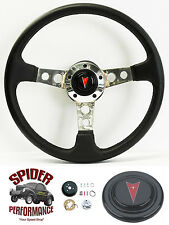"1967-1968 Firebird steering wheel LEATHER 14"" Grant steering wheel"