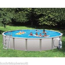 "Dig Deep Round 33' x 72"" Above Ground Swimming Pool with Vinyl Coated Frame"