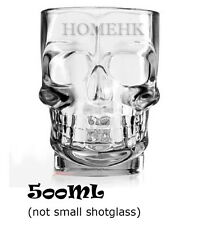 Crystal Glass Skull Head MUG Cup handle big 500 ml Beer Bar Large Drink Whiskey