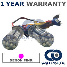 2X CANBUS PINK H1 60 SMD LED FOG LIGHT BULBS FOR MG ZR ZS ZT ROVER 200 400 600