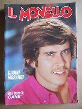 IL MONELLO n°15 1974 con inserto CANE' - Gianni Morandi Mennea Black Rider G391]