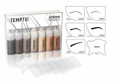 TEMPTU S/B AIRBROW make-up kit STENCILS Airbrush Eyebrow Eye brows Natural set