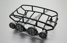 RC Toy Truck Crawler Luggage Short Roof Rack with 4 LED Light LEDs Wide