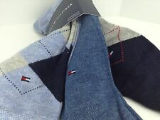 Men's TOMMY HILFIGER Blue ARGYLE Dress Socks - 3 Pack- $30 MSRP - 25%