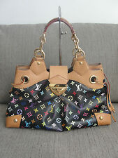 55% OFF! EUC Auth Louis Vuitton LV Multicolore Monogram Ursula Black Gold HW