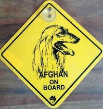 12cm Roadsign Schild mit Saugnapf AFGHAN Afghane Afghanischer Windhund