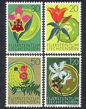Liechtenstein 1970 FIORI / Orchidea / giglio / piante / conservazione della natura 4V Set n37333