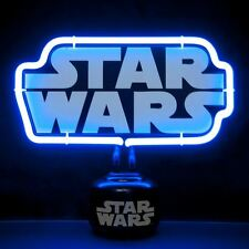 Official Star Wars Written Logo Small Neon Night Light Table Lamp - Boxed