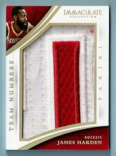 JAMES HARDEN 2014/15 IMMACULATE COLLECTION TEAM NUMBERS 4 COLOR JUMBO PATCH /18