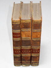 TEMPER - Amelia Opie (1813 3rd Ed) Antiquarian 3 vols leather bound book novel