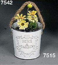 Interni Hoff 7515 Home & Garden vasi Giardinetti con cordino in metallo bianco