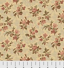 Southern Vintage Reproduction Floral Fabric 1yd 100% Cotton Natural #780NE P&B