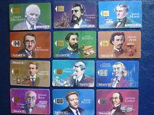 12 téléc. - série complète Grandes figures des télécom
