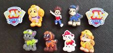 9 x Paw Patrol Croc Shoe Charms Crocs Shoes Jibbitz Wristabands Skye Chase