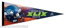 SUPER BOWL XLIX 49 ARIZONA NFL NFC CHAMPS SEATTLE SEAHAWKS PREMIUM FELT PENNANT