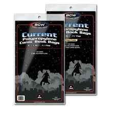 FIRE! (300) BCW Current Clear Comic Book Bags / Sleeves