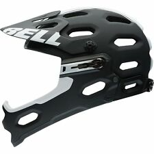 Bell Super 2R Cycling Helmet (Matte Black/White Viper / Small Size)