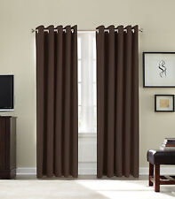 "90"" x 108"" inch Extra Very Long Drop Curtain Faux Silk Fully Lined Eyelet"