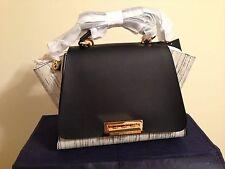 Zac Posen New Colorblock leather white@black handbag