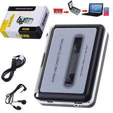 Portable USB Cassette Tape to MP3 PC Converter Capture Stereo Audio Music Player